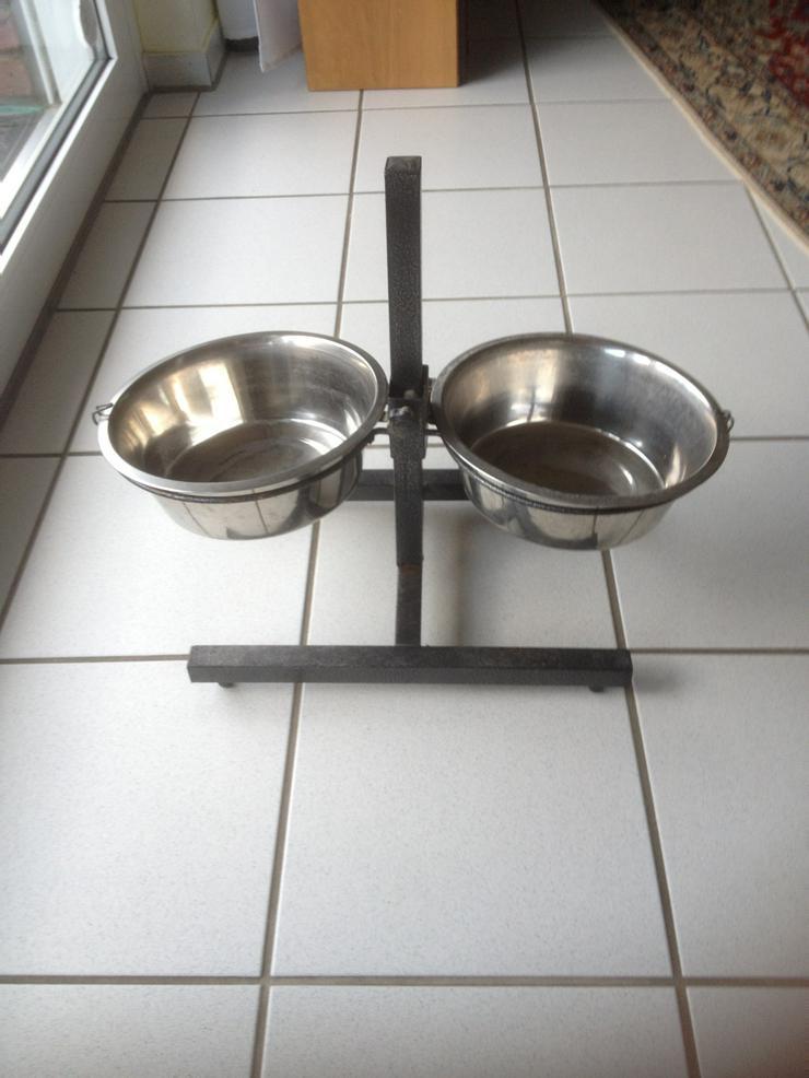 Doppelfressnapf für Hunde, höhenverstellbar