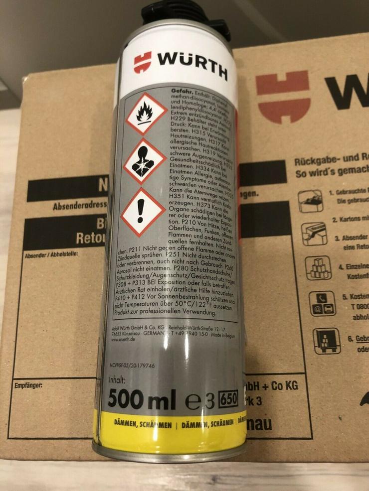Bild 3: Würth Pistolenschaum /Bau- und Dämmschaum / 1K PU Montageschaum / Purlogic Top