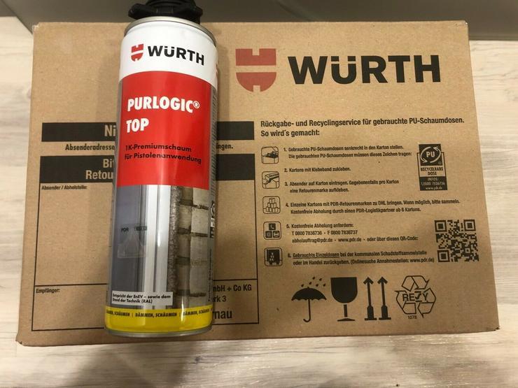Würth Pistolenschaum /Bau- und Dämmschaum / 1K PU Montageschaum / Purlogic Top