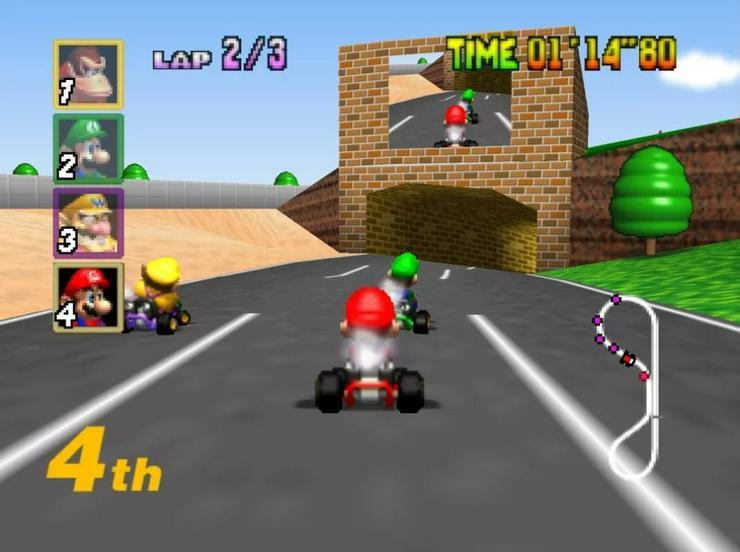 Mario Kart 64 TAZ Express Worms Armageddon für Nintendo 64