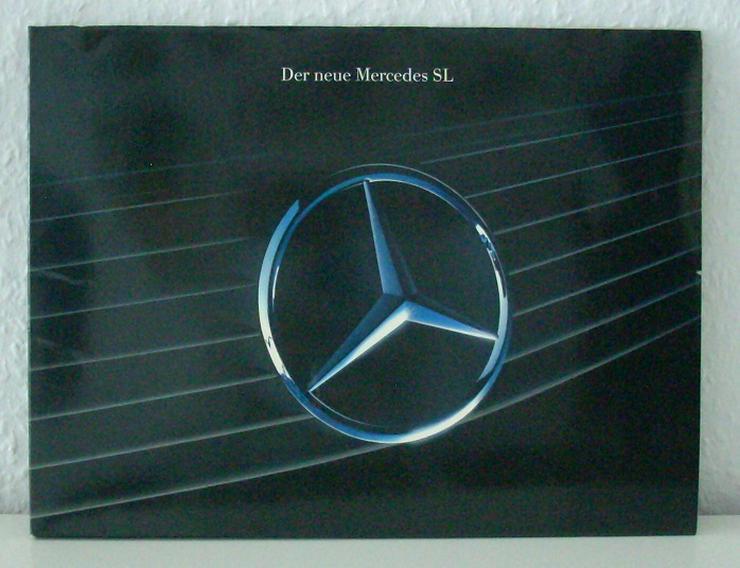 """R129 """"Der neue Mercedes SL"""" - """"Die Legende lebt"""" - 09/89 - Doppel-Prospekt Mappe"""