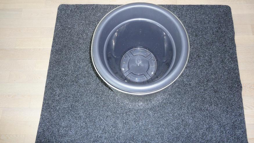 Bild 2: Edelstahl Blumenkübel mit Einsatz, rund, 40 cm