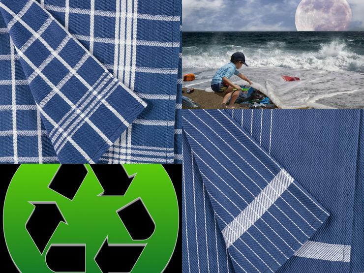4 x Geschirrtücher aus recyclten Material etwas für die Umwelt tun NEU