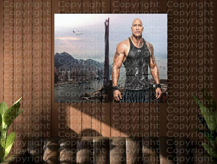 Bild 5: DWAYNE JOHNSON in Hongkong. Kunstdruck 45x30 cm. Souvenir.Raritär. MUSS MAN HABEN!