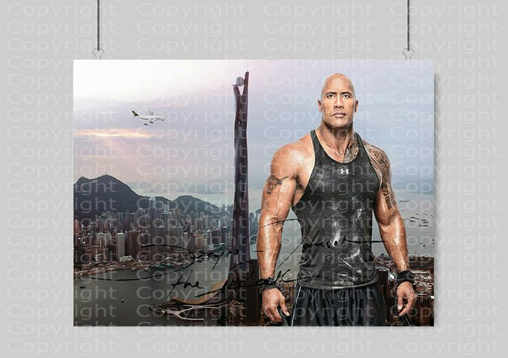 Bild 3: DWAYNE JOHNSON in Hongkong. Kunstdruck 45x30 cm. Souvenir.Raritär. MUSS MAN HABEN!