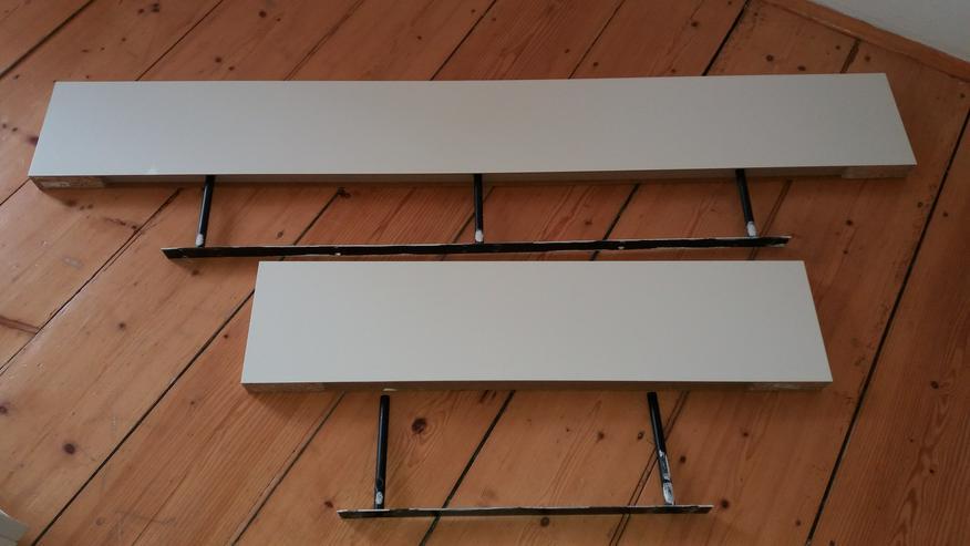 Ikea Wandregale LACK weiß (4 Mal 110x26 cm und 2 Mal 190x26cm)