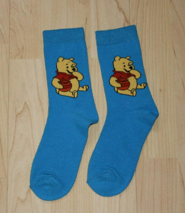 Bild 4: Disney Kinder Strümpfe Mädchen Socken Winnie Pooh Princess Motiv rosa/pink blau/weiß Gr. 31-34 NEU