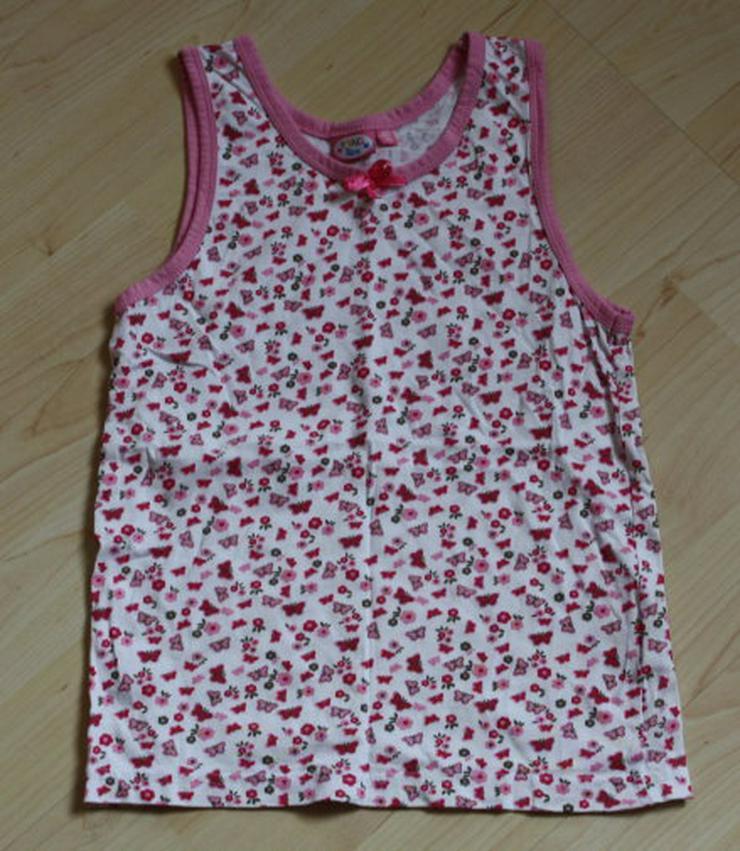 Bild 3: Mädchen Unterhemd Kinder Unterhemden 3er Set Trägerhemd Unterwäsche rosa weiß pink Gr. 146/152 NEU