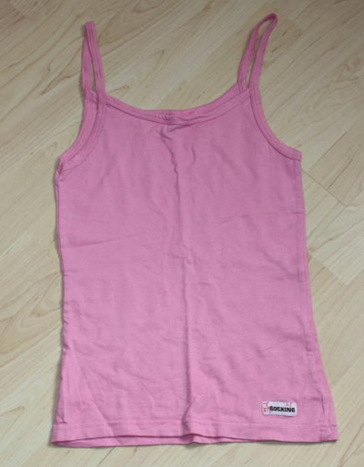 Bild 2: Mädchen Unterhemd Kinder Unterhemden 3er Set Trägerhemd Unterwäsche rosa weiß pink Gr. 146/152 NEU