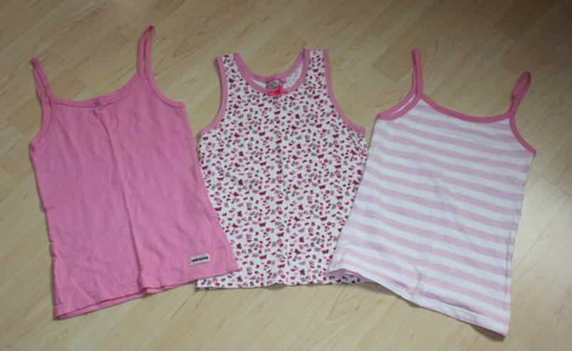 Mädchen Unterhemd Kinder Unterhemden 3er Set Trägerhemd Unterwäsche rosa weiß pink Gr. 146/152 NEU