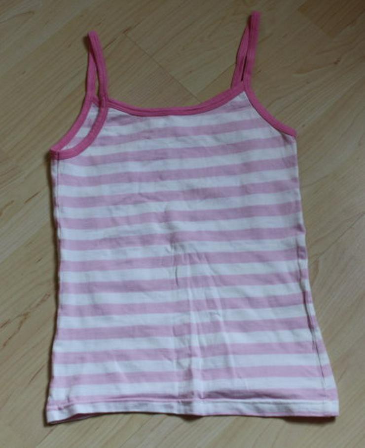 Bild 4: Mädchen Unterhemd Kinder Unterhemden 3er Set Trägerhemd Unterwäsche rosa weiß pink Gr. 146/152 NEU