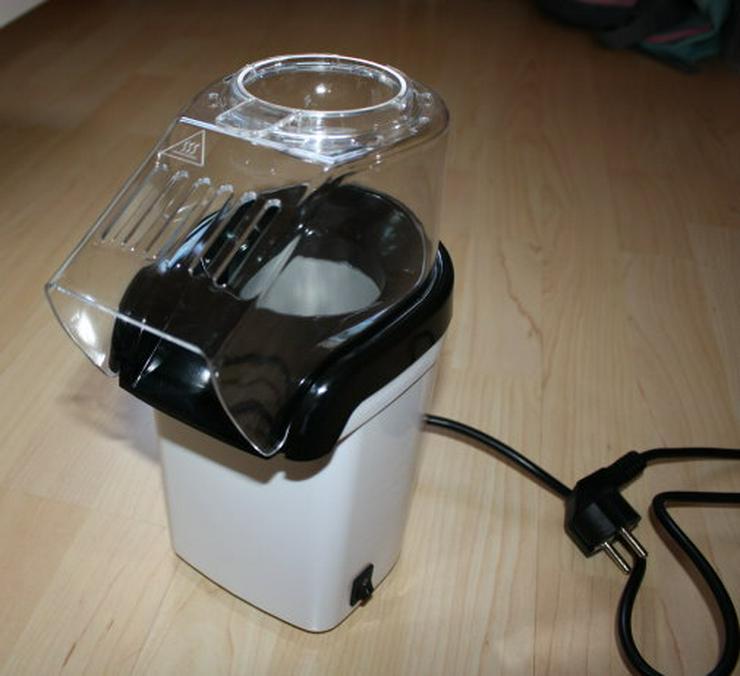Popcornmaschine Popcornautomat Popcorn Maker Heißluft ohne Öl fettfrei zubereiten 1200W weiß NEU