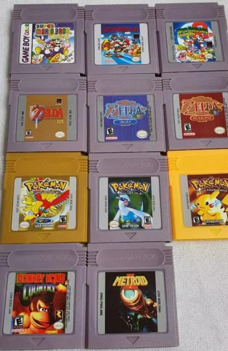 Super Mario Zelda Metroid Pokemon Donkey Kong für Gameboy