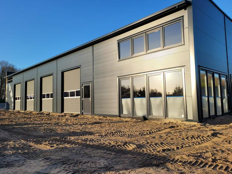 Bild 2: Stahlhalle Gewerbehalle Mehrzweckhalle mit Beurobereich