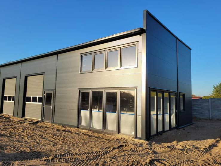 Bild 4: Stahlhalle Gewerbehalle Mehrzweckhalle mit Beurobereich