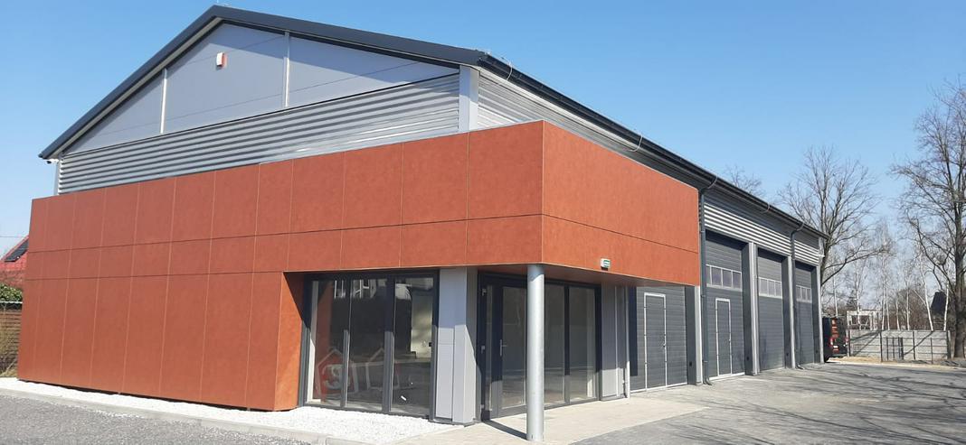 Bild 2: Stahlhalle Mehrzweckhalle mit Beurobereich