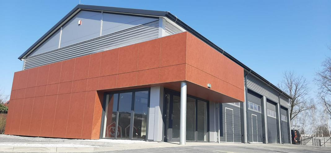 Bild 6: Stahlhalle Mehrzweckhalle mit Beurobereich