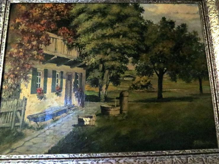 Altes Ölgemälde von Adolf Petzoldt 1888- 1972 Erdmannsdorf (Polen) Unser Elternhaus Unikat signiert