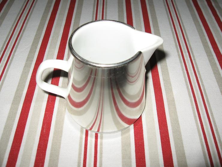 Bild 4: Melitta Warmhalte- Kaffee- und Teekanne, mit Milchkännchen, ca. 50 Jahre alt, Porzellan mit Isolierhaube,