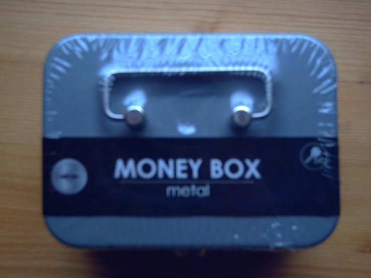 Bild 3: Geldkassette, Geldbox (11,5 x 8,5 x 5 cm) aus Metall, grau, mit 2 Schlüssel, NEU