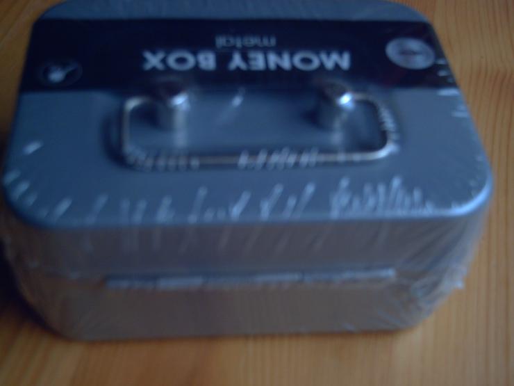 Bild 4: Geldkassette, Geldbox (11,5 x 8,5 x 5 cm) aus Metall, grau, mit 2 Schlüssel, NEU