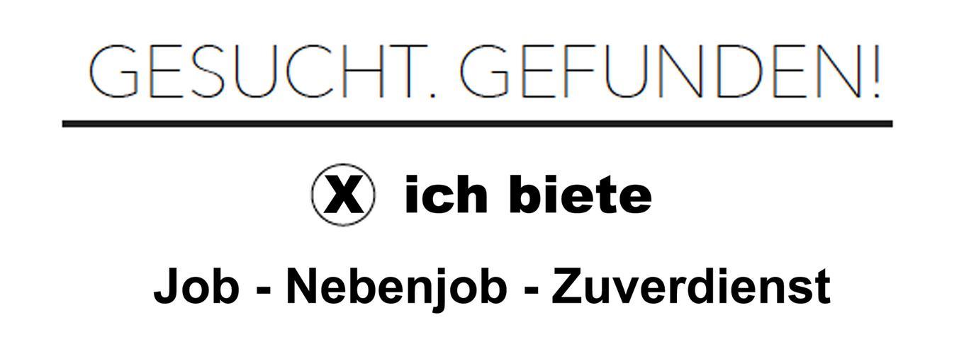 Pflegehilfe / Haushaltshilfe  (Job - Nebenjob – Zuverdienst)