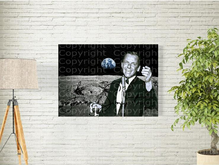 """FRANK SINATRA """"Fly Me to the Moon"""" NASA-Souvenir. Einmalig! Kunstdruck. 45x30 cm. Geschenk. Andenken. Sammlerstück."""