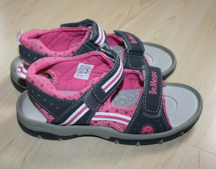 Bild 4: Mädchen BeMega Sandalen Sandaletten Kinder Sommerschuhe Freizeitschuhe Klettschuhe grau/pink Gr. 35