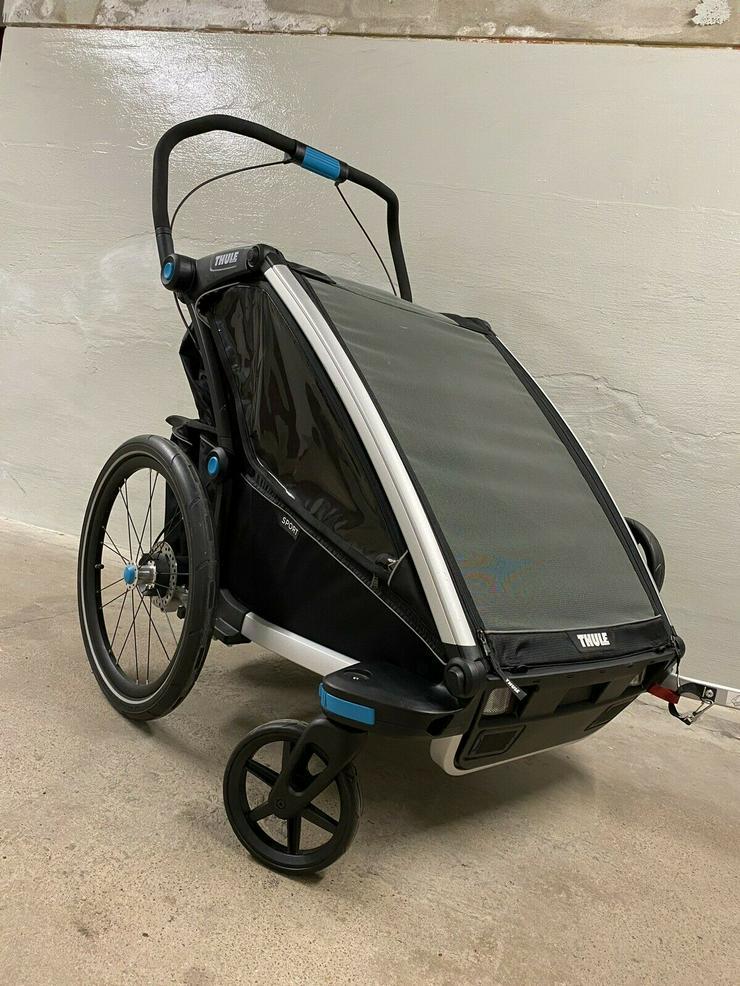 Thule Chariot Sport 2 Black Edition Zweisitzer Kinderanhänger - Zubehör & Fahrradteile - Bild 1