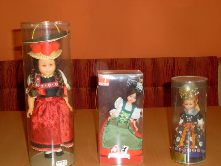 3 verschiedene Sammler Puppen  Schweiz, Nürnberg im original Karton
