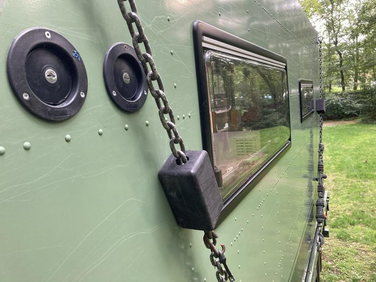 Bild 3: LKW Expeditionsmobil Saurer 2DM Allrad mit Dornier FM2 shelter