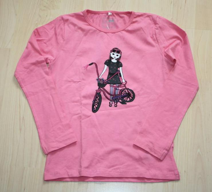 Mädchen Langarm Pullover Kinder Sweatshirt Name it Langarmshirt Longsleeve pink rosa Gr. 122/128 NEU - Größen 122-128 - Bild 1