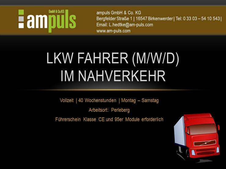 LKW Fahrer (m/w/d) im Nahverkehr