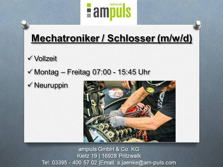 Mechatroniker / Schlosser (m/w/d)