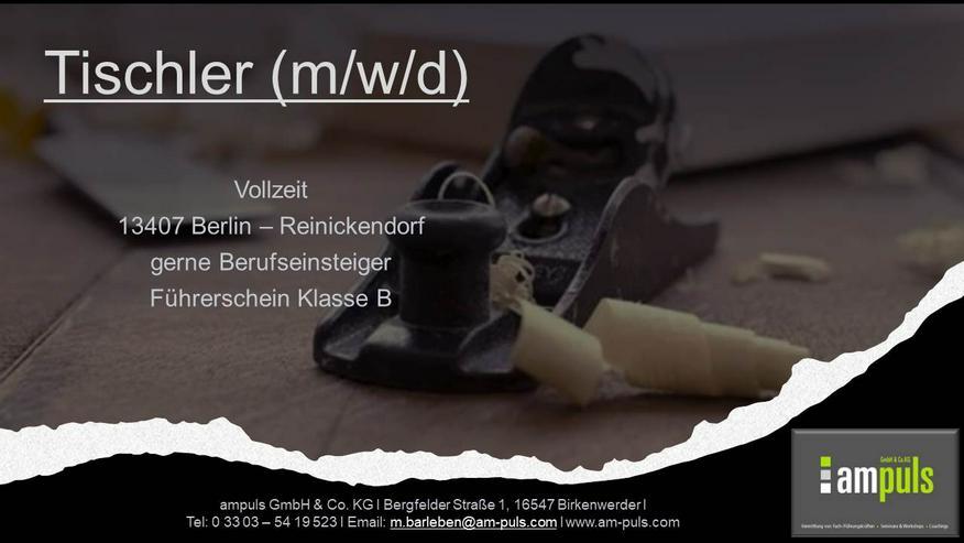 Tischler (m/w/d)