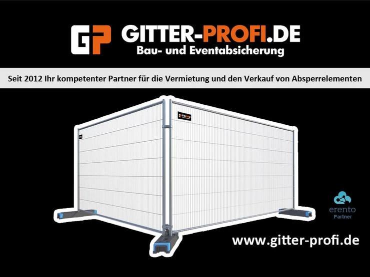 Bild 1: Bauzaun mieten oder kaufen - Mobilzaun Bauzaun für Baustellen und andere Vorhaben beit Gitter-Profi