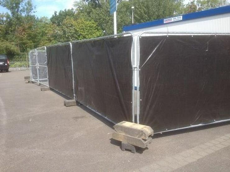 Bild 3: Mobilzaun Bauzaun mit Sichtschutz für Baustelle und Bauvorhaben günstig Mieten