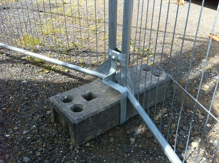 Bild 3: Engmaschiger Mobilzaun Bauzaun (Anticlimb) für Baustelle und Bauvorhaben günstig Mieten