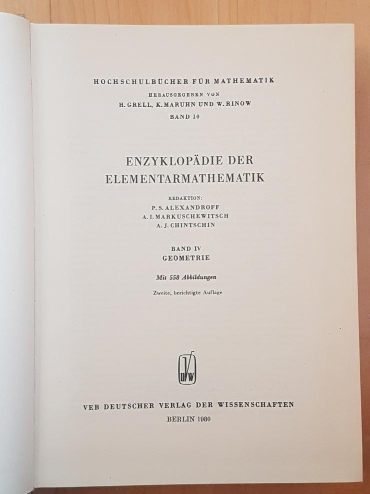 Bild 6: Enzyklopädie der Elementarmathematik. I , II, IV, V