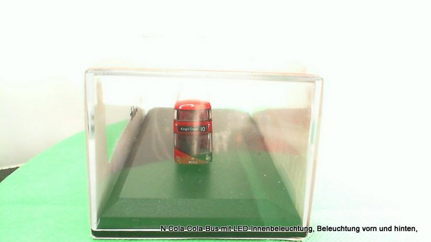 Bild 2: N Cola-Cola-Bus mit LED-Innenbeleuchtung, Beleuchtung vorn und hinten,