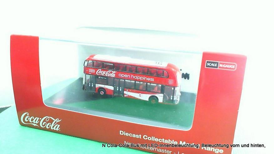 N Cola-Cola-Bus mit LED-Innenbeleuchtung, Beleuchtung vorn und hinten,
