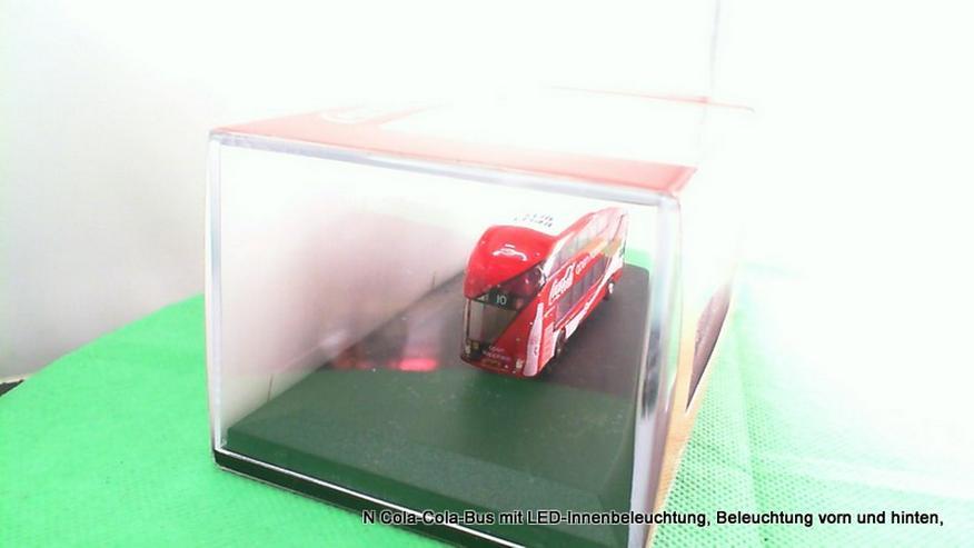 Bild 3: N Cola-Cola-Bus mit LED-Innenbeleuchtung, Beleuchtung vorn und hinten,