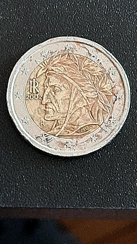 2 Euro Münze 2002 Italien FEHLPRÄGUNG - Euros - Bild 1