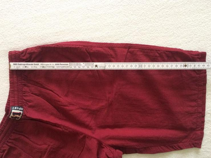 Bild 3: (Sport-)Bermuda Shorts Gr. 140 dunkelrot