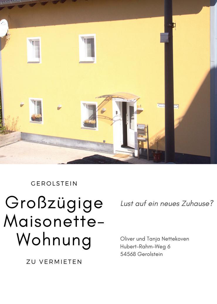 Sehr gepflegte + großzügige Maisonette-Wohnung, 3 Zi. mit Einbauküche und Whirlpoolb. und Garten