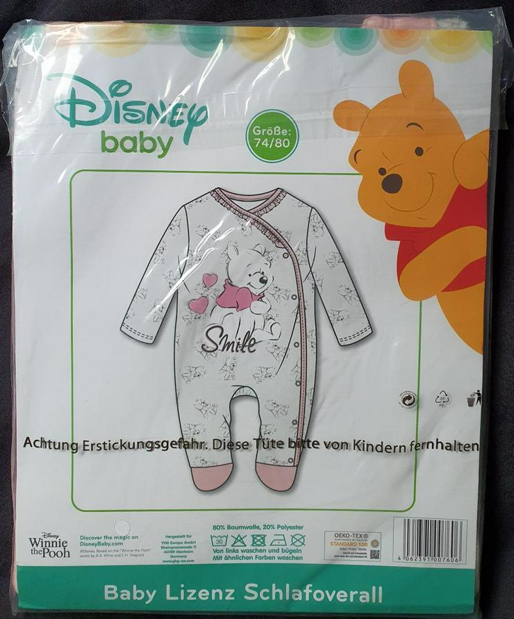 Baby Strampler Disney Overall Winnie Puuh Langarm Mädchen 74-80