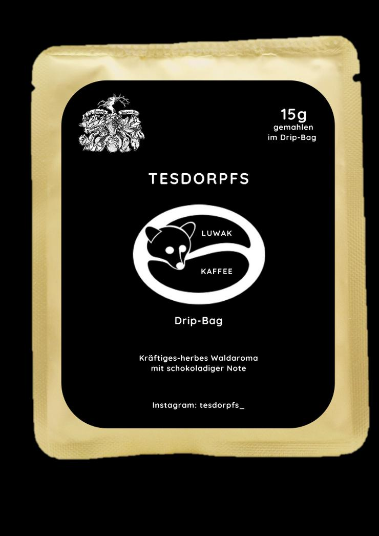 Bild 2: Kopi Luwak Kaffee im Drip Bag von Tesdorpfs
