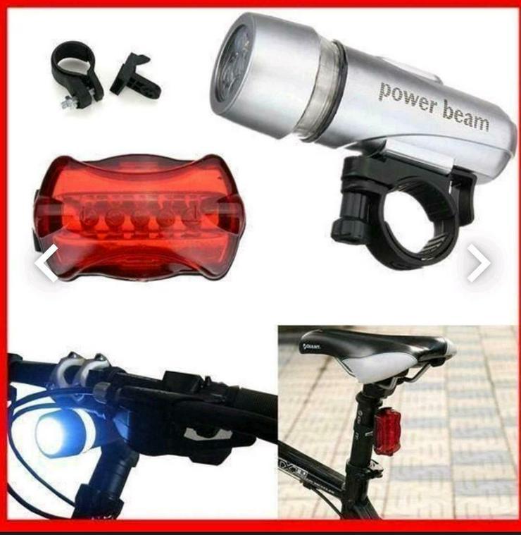 FAHRRAD LICHT SET LED Beleuchtung Set Rücklicht Fahrradlicht