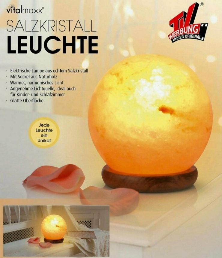 NEU** Vitalmaxx Salzkristall Leuchte kugelförmig TV Werbung Salz