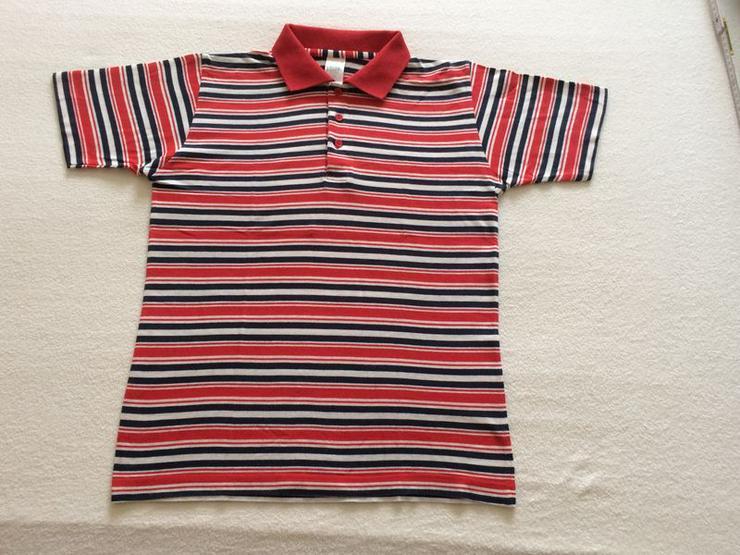 Poloshirt Gr. 152 rot-weiss-blau gestreift
